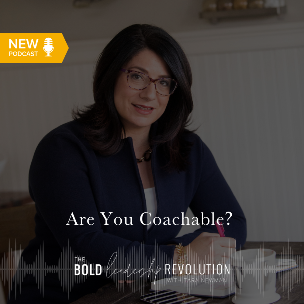 Are you coachable graphic for brave leadership revolution podcast