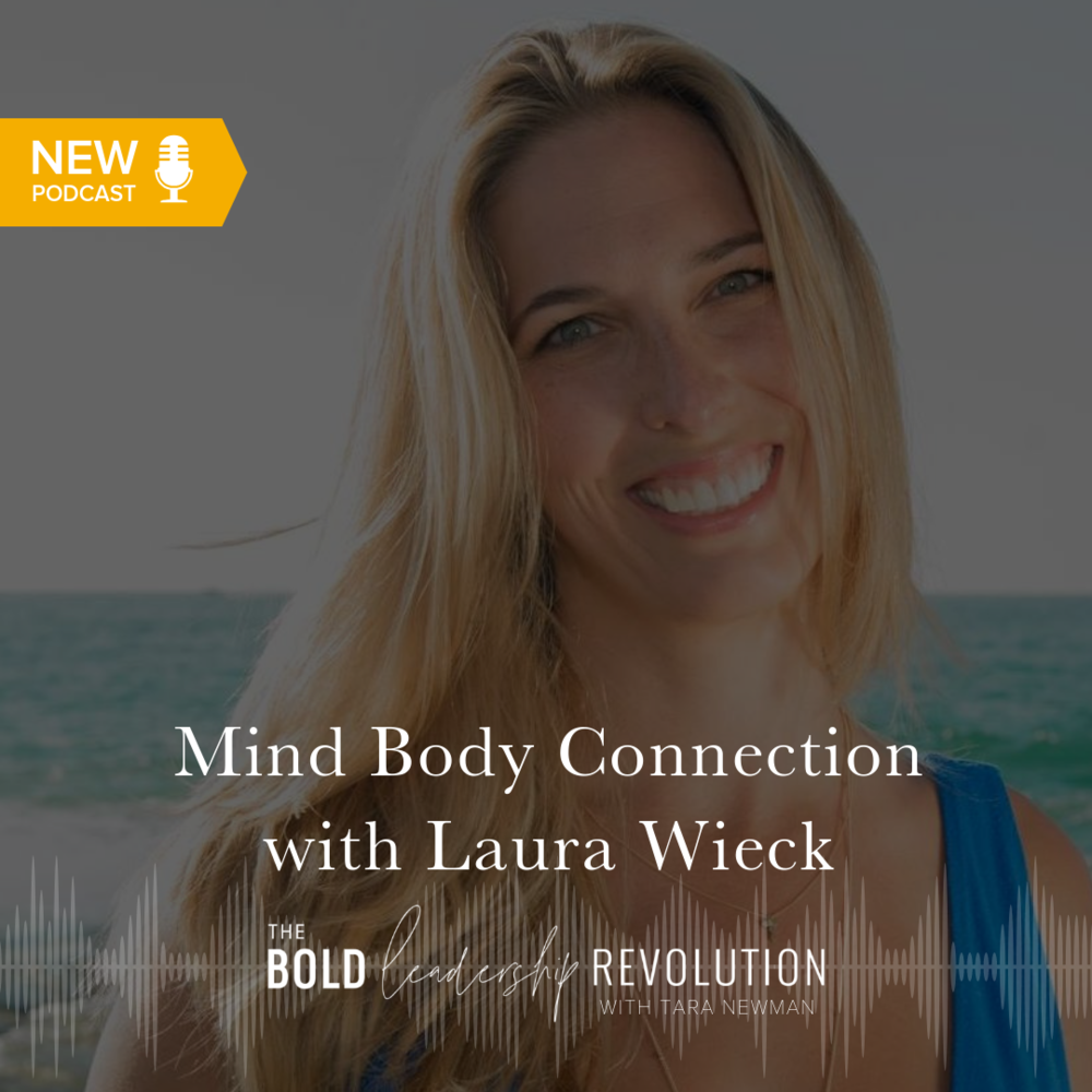 mind body connection with laura wieck graphic for bold leadership revolution podcast