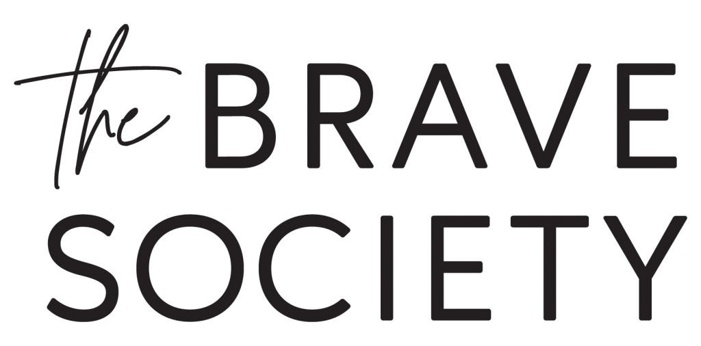 the brave society logo in black
