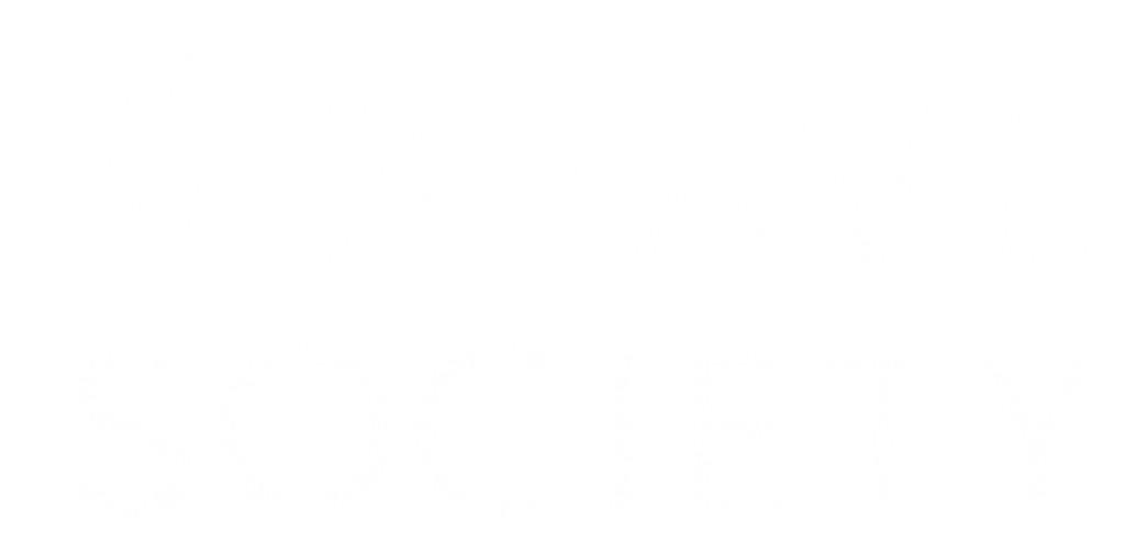 the brave society logo white